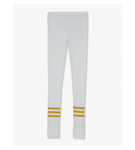 BOBO CHOSES Striped hem cotton leggings 4-11 years (Grey