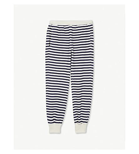 BOBO CHOSES 条纹棉慢跑裤 4-11 岁 (奶油/蓝色