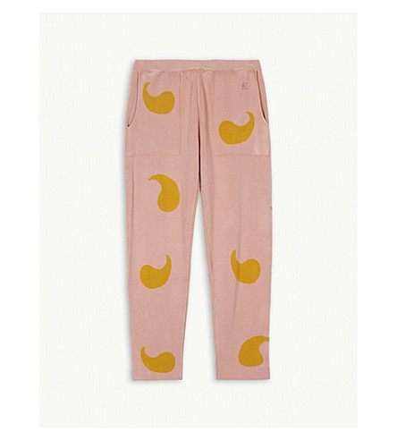 BOBO CHOSES Comma print knitted trousers 4-11 years (Pink