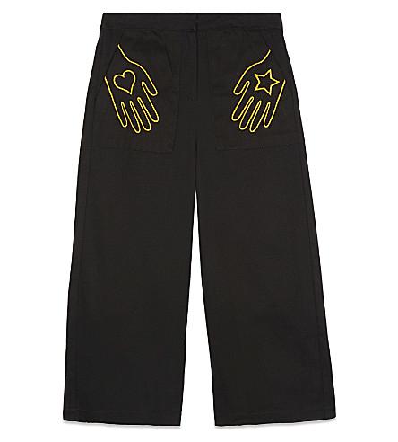RASPBERRY PLUM Mackenzie cropped trousers 3-12 years (Black