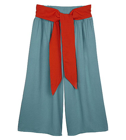 RASPBERRY PLUM Sonny wide-leg tie culottes 3-12 years (Green