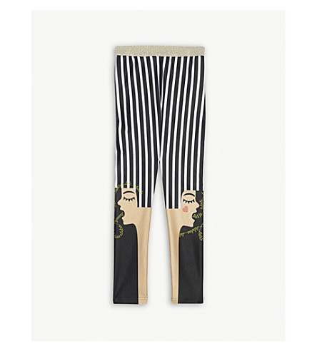 RASPBERRY PLUM Missy striped leggings 3-12 years (Black/white