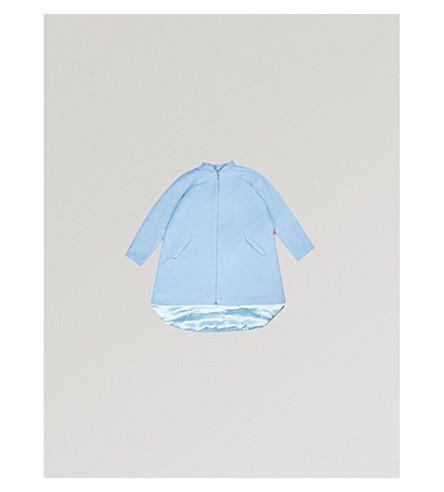 RASPBERRY PLUM Dixie flared wool-blend coat 3-12 years (Powder+blue