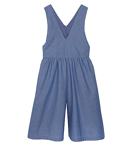 RASPBERRY PLUM Sophie cotton dungarees 3-10 years (Blue