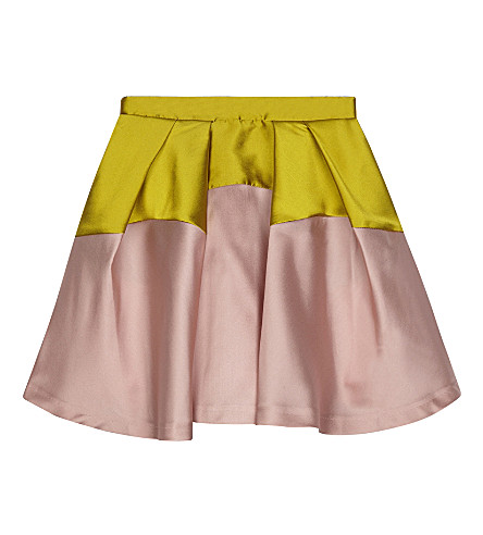 RASPBERRY PLUM Marquita two-tone satin skirt 3-12 years (Pink
