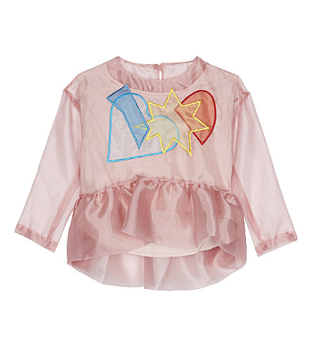 RASPBERRY PLUM Katia organza blouse 3-12 years (Pink