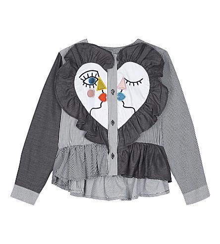 RASPBERRY PLUM Magdalene cotton peplum blouse 3-12 years (Grey