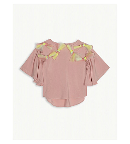 RASPBERRY PLUM Isabella mesh bow blouse 3-12 years (Pink
