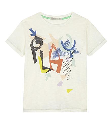 RASPBERRY PLUM Antonio cotton T-shirt 3-10 years (Ecru