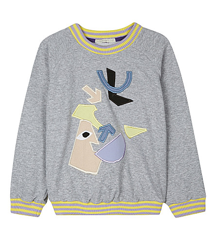 RASPBERRY PLUM Aston cotton jumper 3-10 years (Grey