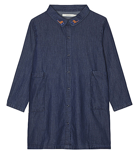 TINY COTTONS Denim shirt dress 4-10 years (Denim