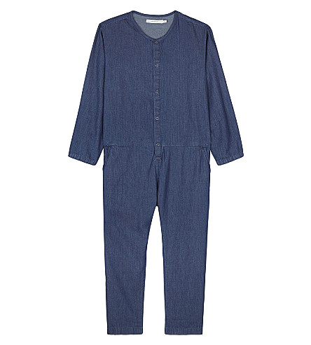TINY COTTONS Denim long-sleeved jumpsuit 4-10 years (Denim