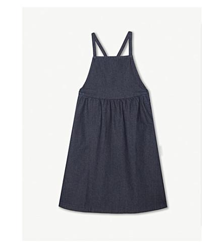 TINY COTTONS Cotton denim braces dress (Denim