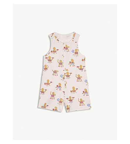 TINY COTTONS Octopus print cotton-blend playsuit 4-10 years (Pink