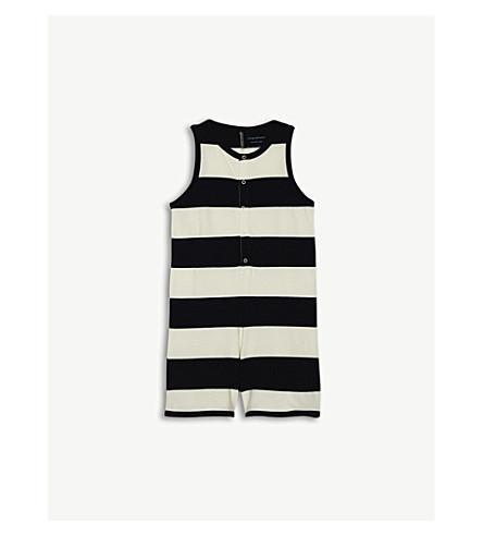 TINY COTTONS Big stripe cotton vest playsuit 4-10 years (Navy
