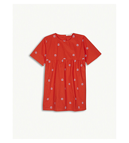 TINY COTTONS Club sandwich print cotton dress 4-10 years (Red