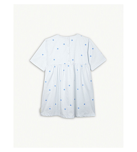 TINY COTTONS Square dots cotton dress 4-10 years (Cream
