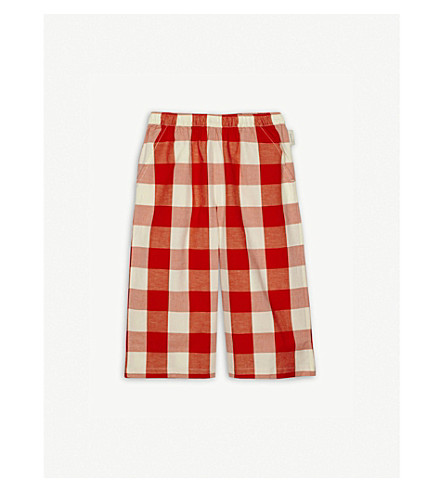 TINY COTTONS Check print cotton-blend culottes 4-10 years (Orange