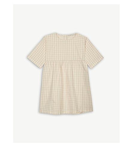 TINY COTTONS Grid print cotton dress 4-10 years (Cream