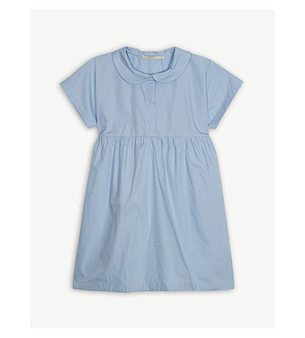 TINY COTTONS A-line cotton shirt dress 4-10 years (Blue