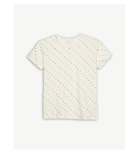 TINY COTTONS Letters print cotton-blend t-shirt 4-10 years (Cream