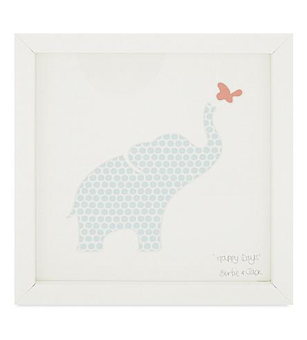 BERTIE & JACK Happy Days polka-dot elephant & butterfly frame