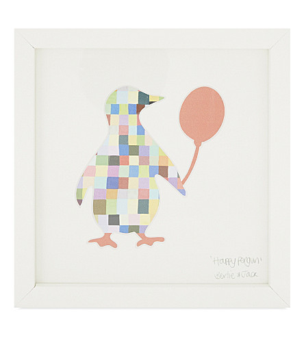 BERTIE & JACK Happy Penguin picture frame 20 x 20cm