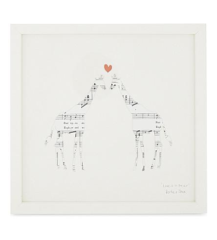 BERTIE & JACK Love is in the Air musical print giraffe frame