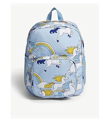 adbb826849df MINI RODINI Mini Rodini unicorn backpack (Light+blue
