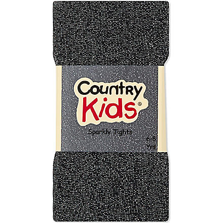 COUNTRY KIDS Sparkle tights 3-11 years (Black