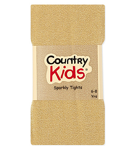 COUNTRY KIDS Sparkle tights 3-11 years (Gold