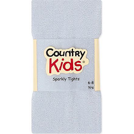 COUNTRY KIDS Sparkle tights 3-11 years (Silver