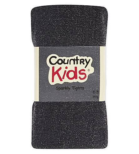 COUNTRY KIDS Sparkly tights 6-8 years (Black