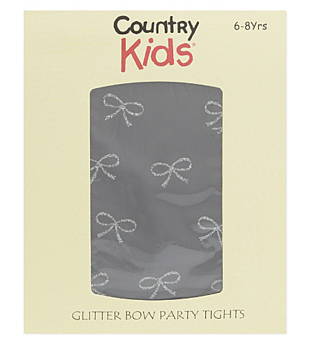 COUNTRY KIDS Lurex bow tights 1-11 years (Black