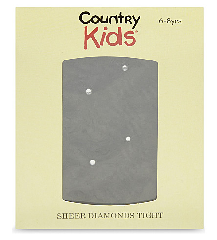 COUNTRY KIDS Sheer diamond tights 3-11 years (Black/diamond