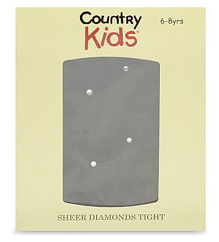 COUNTRY KIDS 纯粹的钻石紧身衣3-11 年 (黑色/钻石