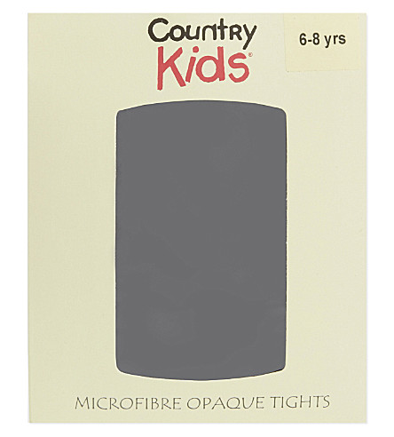 COUNTRY KIDS Opaque tights 1-15 years (Black