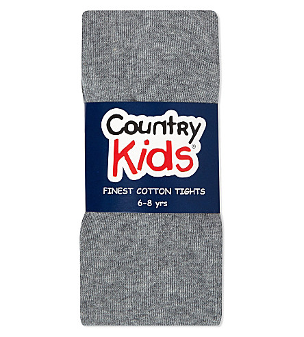 COUNTRY KIDS Classic cotton tights 1-11 years (Grey