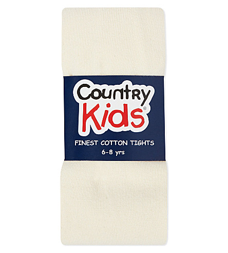 COUNTRY KIDS Classic cotton tights 1-11 years (Ivory
