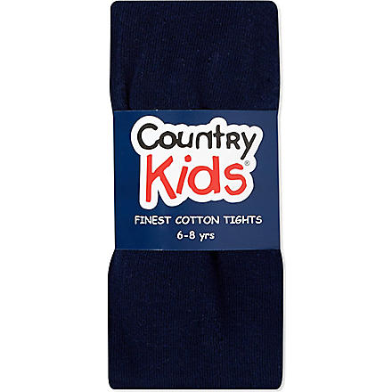 COUNTRY KIDS Classic cotton tights 1-11 years (Navy