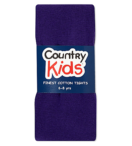 COUNTRY KIDS Classic cotton tights 1-11 years (Purple