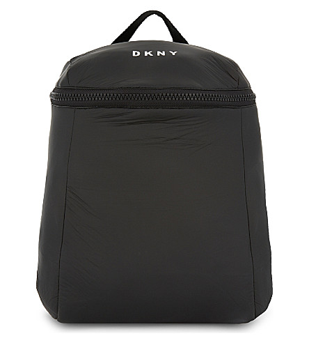 DKNY Slouchy logo backpack (Black