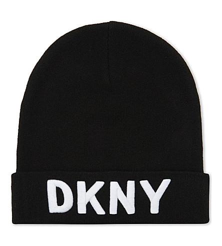 DKNY Logo beanie hat (Black