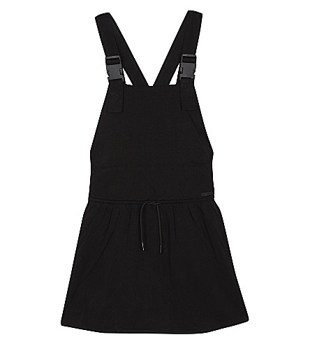 DKNY Dungaree cross strap dress 8-16 years (Black