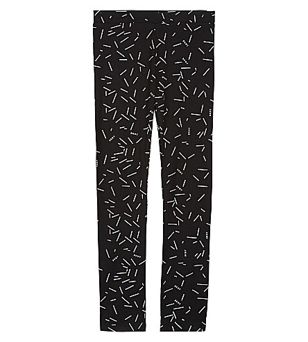 DKNY Logo-printed leggings 6-16 years (Black