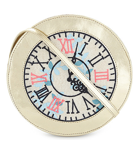 BILLIE BLUSH Alice in Wonderland clock bag (Gold