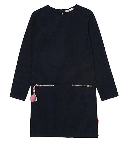 BILLIE BLUSH Knitted pom pom dress 4-12 years (Navy