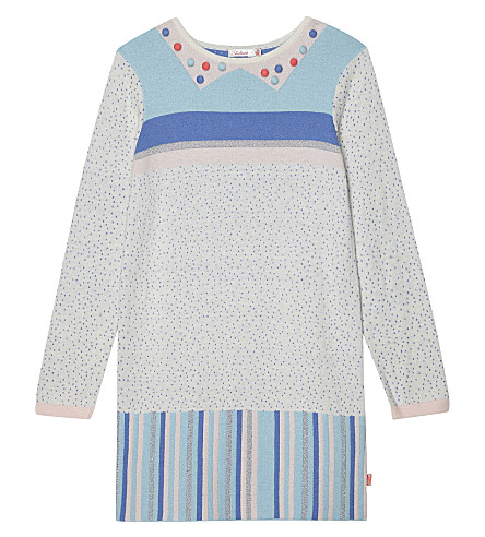 BILLIE BLUSH Patterned knitted dress 4-12 years (Grey