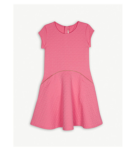 BILLIE BLUSH Neon jacquard jersey dress 4-12 years (Pink