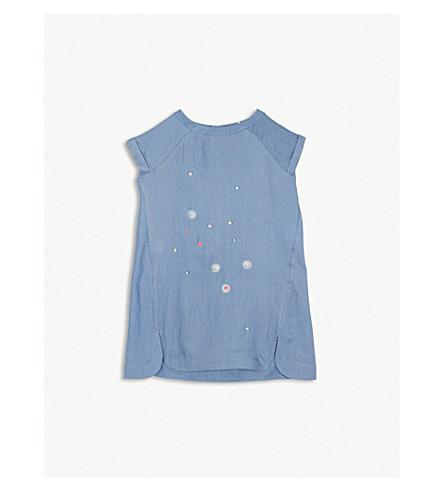 BILLIE BLUSH Embellished denim dress 4-12 years (Denim+blue